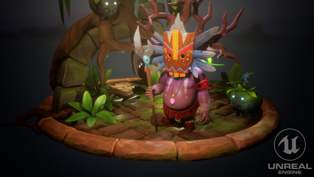 Tiki Man Character